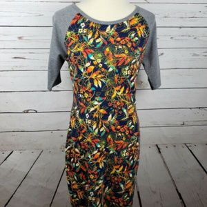 LuLaRoe Super Comfy Colorful Tshirt Dress Sz Med
